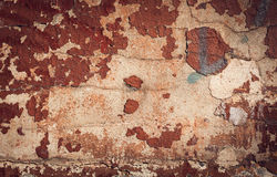 Background of old colorful peeling paint wall Royalty Free Stock Image