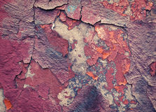 Background of old colorful peeling paint wall Stock Photography