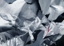 Background of old crumpled paper. Close up royalty free stock photography