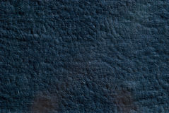 Background of the old dark blue leather Stock Image