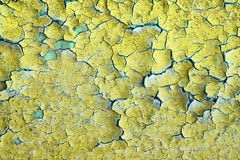 Background - old dirty wall with peeling paint Stock Photo