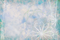 Background-old-floral-grunge-cyan Stock Photos