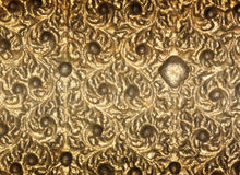 Background old gold metal. Stock Images