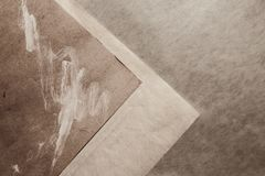 Background with old gray paper. Closeup Royalty Free Stock Image