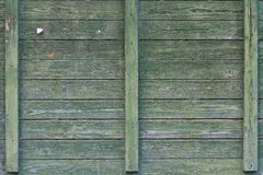 Background old green wooden wall. close-up Royalty Free Stock Photo