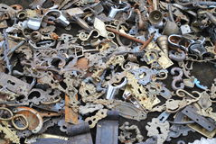 Background of old keyholes Royalty Free Stock Photos