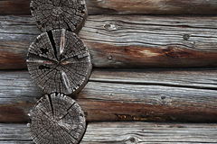 Background of the old log walls Stock Images