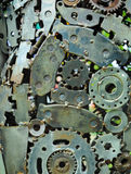 Background of old machine parts Royalty Free Stock Photos