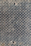 Background of old metal diamond plate Royalty Free Stock Image