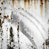 Grunge background of old metal with traces of rust and paint Royalty Free Stock Photo