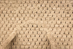 Background of an Old mud bricks wall Royalty Free Stock Image