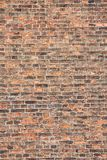 Orange and black old brick wall background Royalty Free Stock Photos