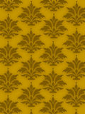 Background old ornaments. On yellow color Stock Photography