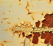 Background old paint on rusty metal Royalty Free Stock Image