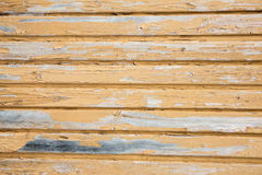 Background of old painted wooden boards Stock Images