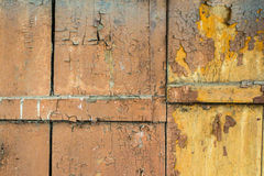 Background old painted wooden planks with cracked pain Stock Image