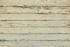 Background of old painted in yellow boards stock photography