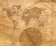 Background - old paper. With decorative elements royalty free illustration