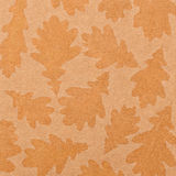 Background of old paper with imprints of leaves Royalty Free Stock Photo