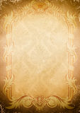 Background of old paper with old-fashioned frame. Royalty Free Stock Photos