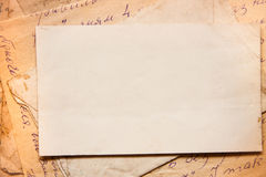 Background with old papers and letters Stock Photo