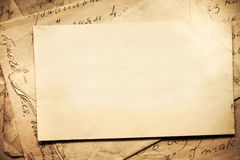 Background with old papers and letters Stock Photography
