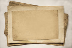 Background with old papers and letters Stock Image