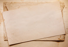 Background with old papers and letters Royalty Free Stock Image