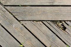 Background of parallel wooden boards Stock Images