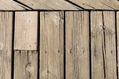 Background of parallel wooden boards Stock Photography