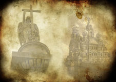 The background of the old photos. Background of old photos with views of St. Petersburg royalty free illustration