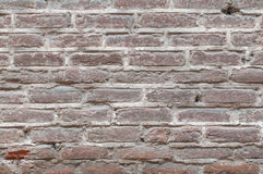 Background old real texture of a red brick wall Royalty Free Stock Images
