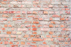 Background of an old red brick wall with a clear texture Stock Photos