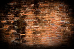 Background of old red brick wall pattern texture Royalty Free Stock Photos