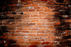 Background of old red brick wall pattern texture,Great for graf Stock Image