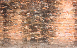 Background of old red brick wall pattern texture. Royalty Free Stock Image