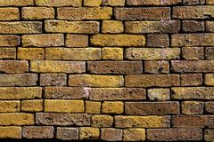 The background of the old red brick wall surface is strong, resistant to rain and sun stock images