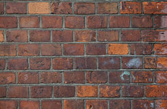 Background of old red brick wall Stock Photos