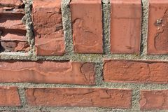Background of old red brick wall texture royalty free stock photos