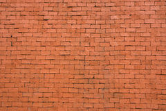 Background of old red vintage brick wall. The Background of old red vintage brick wall Stock Photo