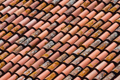 Background of old roof tiles Stock Photo
