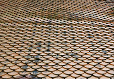 Old roof tiles. Royalty Free Stock Photos