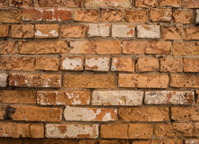 Background with old rough antique brick wall Stock Images