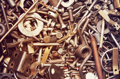 Background from old rusty metal details Royalty Free Stock Photo