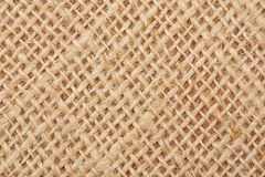 Background with the old sackcloth, close up. Royalty Free Stock Photography