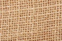 Background with the old sackcloth, close up. Stock Photo