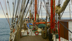 Background -  old sailing ship rigging Stock Photography