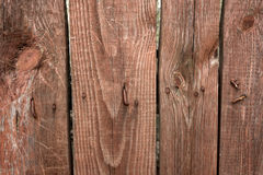 Background of old scratched plank boards densely knocked together Royalty Free Stock Photos