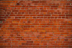 Background with the old shabby brick wall Stock Photography