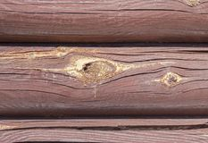 Background of old stained logs. Royalty Free Stock Images